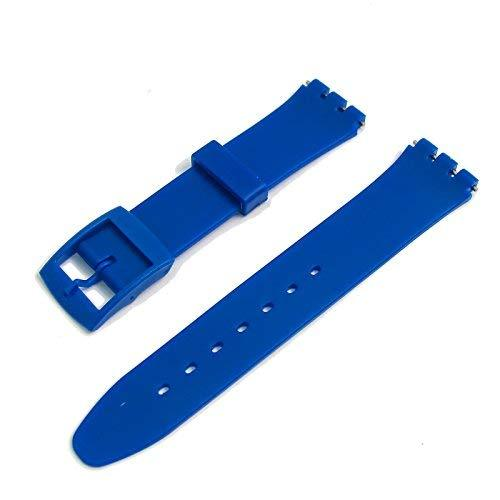 Royal Blue Resin Watch Strap Band to fit Standard Swatch Watch 17mm choice of co - $9.95