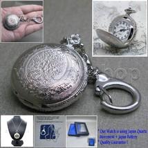Silver Antique Pendant Watch Quartz Women 2 Ways Necklace Key Chain Gift... - $13.99