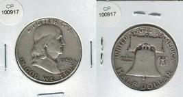 1954 D Silver Franklin Half Dollar Nice Actual Photo of coin CP100917 - $18.95