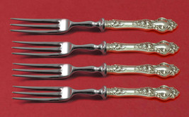 """Violet by Wallace Sterling Silver Fruit Fork Set 4-Piece HHWS 6"""" Custom ... - $279.00"""
