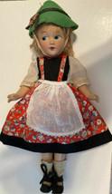 11'' JUNEL 1940 INTERNATIONAL COSTUME Composition Doll -All Original~fea... - $64.35