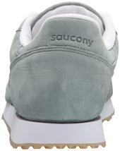 Saucony Originals da Uomo Verde pelle Nubuck Dxn Trainer CL Corsa Sneaker Scarpe image 3