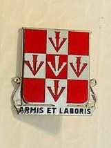 US Military 499th Engineer Battalion Insignia Pin - Armis Et Laboris - $10.00