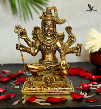 Lord Shiva Brass Statue, Padmasana Shiva , Sitting Shiva, Gift, Home Decor, Hind - $110.00