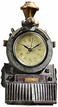 Analog Desk Mantel Clock Industrial Modern Train Steampunk Roman Numeral... - $60.00