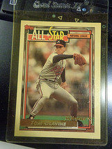 1992 Topps Gold #395 Tom Glavine Atlanta Braves Baseball Card ~ NM - $1.55
