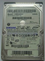 SAMSUNG HM040GC 40GB 2.5 inch 9.5mm IDE 44pin Hard Drive Our Drives Work - $19.55