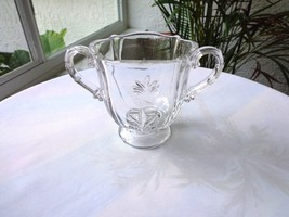 Fostoria Baroque Pattern Clear Sugar Bowl  c1937-1953 - $16.99