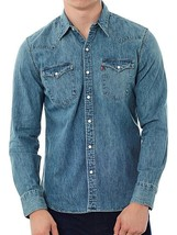 New Levi's Men's Classic Long Sleeve Denim Button Up Casual Dress Shirt 65816006