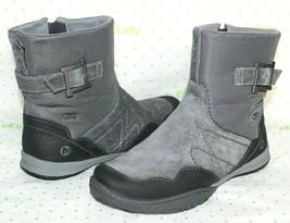 ❤️MERRELL Granite Waterproof Suede Leather Snow-Grip Zip Boot 7 M GREAT!... - $33.24