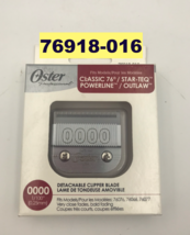 """Oster Professional CLASSIC76 Detachable Clipper Blade 0000 1/100"""" # 076918-016 - $32.66"""