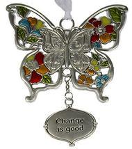 Gnz Inspirational Zinc Butterfly Ornament -Change is Good - $8.05