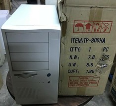 AT ATX Computer Case Enclosure Build Vintage 386 486 Pentium ctx w// power