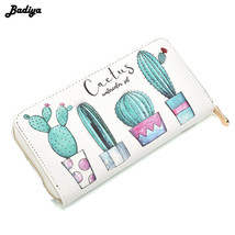 Cactus Plant Printing Women Summer Long Wallet PU Leather Phone Pocket L... - $27.70