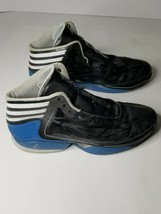 Adidas Adizero Crazy Light Mens Basketball Shoes Athletic Black Blue Siz... - $29.69