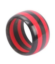 Striped Black & Red Bangle - $4.60