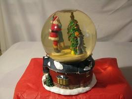 Department 56 Kissing Claus Waterglobe Music Box I saw mommy kissing Santa Claus - $35.63