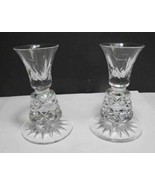 Cut Glass Charleston pair candle sticks Lenox USA , crystal - $27.12