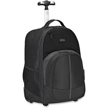 TARGUS Compact Rolling Backpack, 19 1/3 x 7 1/2 x 13 4/10, Polyester, Black - $126.90