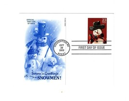 "POSTCARD- #2 ""SEASON'S GREETING FROM ALL THE SNOWMEN""-FIRST DAY ISSUE  BK10 - $1.96"