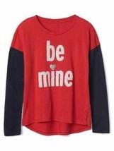 Gap Kids Girls Navy Red Colorblock Long Sleeve Crew Love Graphic T-shirt... - €16,35 EUR
