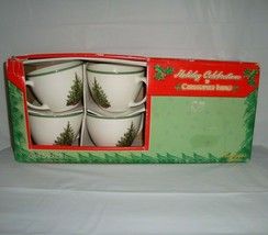 Christopher Radko Holiday Celebrations Christmas Cups and Saucers New Bo... - $39.55
