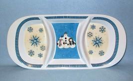 Sakura Debbie Mumm Snowflakes 3-Part Relish Tray Snowmen - $14.99