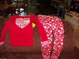 Sleepwear I love you with all my heart 2 pc Pajamas Size 3T Girl's NEW - $15.99