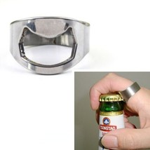 Stainless Steel Ringer Ring Style Beer Wine Bottle Opener (20mm) Diameter) - ...