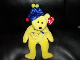 Ty Beanie Baby Yellow Happy Birthday Bear (2005) NEW LAST ONE - $26.99