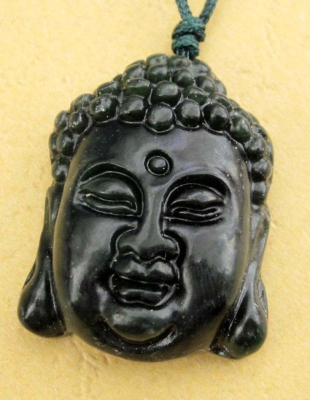Free shipping -good luck  Hand-carved 100% Natural black agate Laughing Buddha c