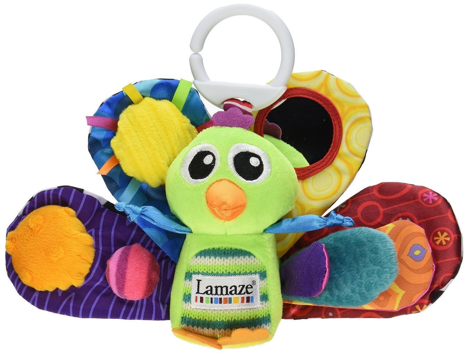 Tomy Lamaze Play and Grow Take Along Toy Jacques the Peacock Jacques the Peacock