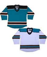 San Jose Sharks Customized  NHL Style Replica Hockey Jersey with NAME & NUMBER   - $44.35