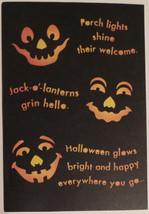 "Greeting Halloween Card ""Halloween glows..."" - $1.50"