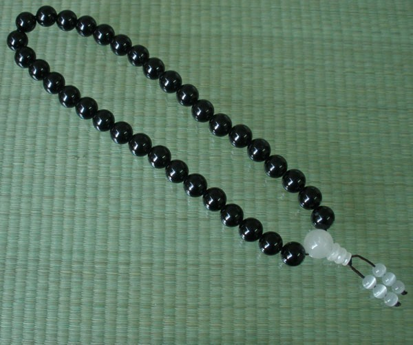 Free Shipping -Tibetan Natural Black jade Meditation yoga Prayer Beads charm Bra
