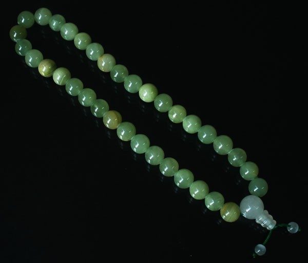 Free Shipping -  Natural Green Jade Meditation yoga Prayer Beads charm bracelet