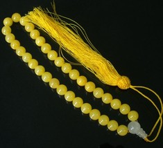 Free Shipping -  Natural yellow jade Meditation Prayer Beads charm Bracelet - $20.00