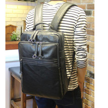 New Retro Men's PU Leather Backpack Shoulder Messenger Bags Briefcase La... - $33.65