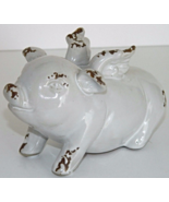 """Pot Belly """"Flying Pig"""" Statue Country Wings Good Luck Figurine Home Deco... - $21.00"""