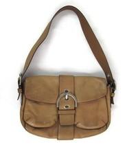 Coach Light Tan Leather Shoulder Bag Purse Pocket Strap Buckle - $19.79