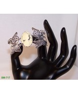 BM-717 -Silver Plated Butterfly Bracelet W/ Ivo... - $24.75