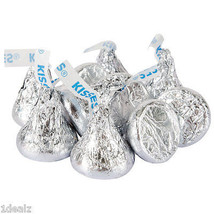 Silver Hershey's Kisses Milk Chocolate Candy Five Pound 5LB Wholesale Authentic - $34.75