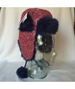 Pink Purple Sequin Leopard Print Hat Baby 3T Toddler Girl Ear Flap Faux Fur - $22.24