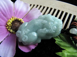 Free Shipping -  good luck Amulet Natural  Green Jadeite Jade Carved '' ... - $20.00