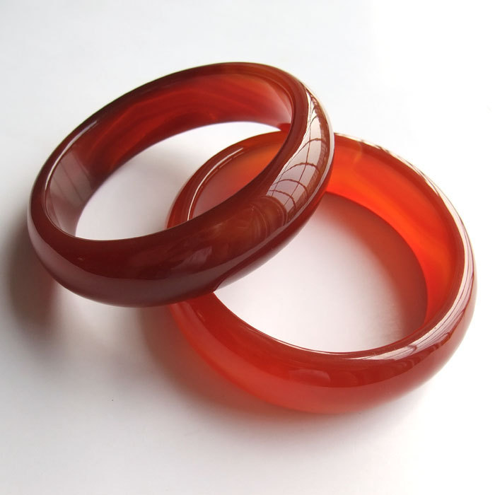Free Shipping - Adjustable size diameter 52 mm - 68mm , Genuine Natural Red agat