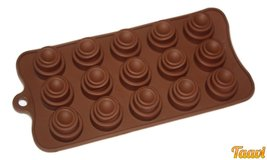 Taavi Layered Circles Silicone Mold (Candy, chocolate, ice cubes) (T807) - ₨733.88 INR