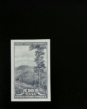 1935 10c Great Smoky, Imperforate Stamp issued without gum Scott 765 Min... - $3.87