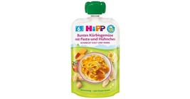 HiPP ORGANIC squeeze bag MEAL: pumpkin vegetables with pasta and chicken  - $8.66