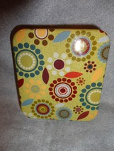 YELLOW GEOMETRIC DESIGN FASHION PILL BOX / PILL CASE WITH DEFECTS - $5.89