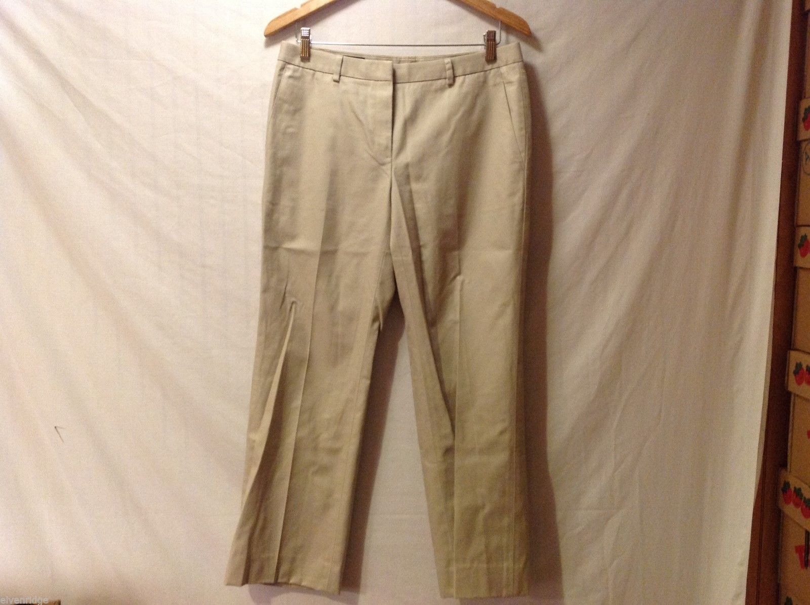 Brooks Brothers Advantage Chino Womens Khaki Dress Pants, Size 8